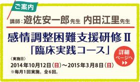 遊佐安一郎先生 内田江里先生 感情調整困難支援研修II「臨床実験コース」
